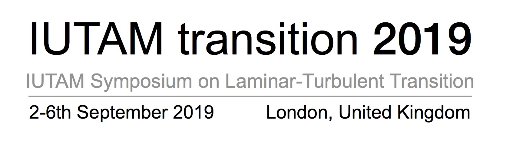 IUTAM Transition 2019 logo